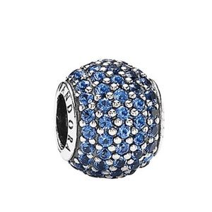 PANDORA Silver&Blue CZ Pave Lights Charm Brand New